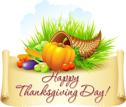 thanksgiving day design elements vector
