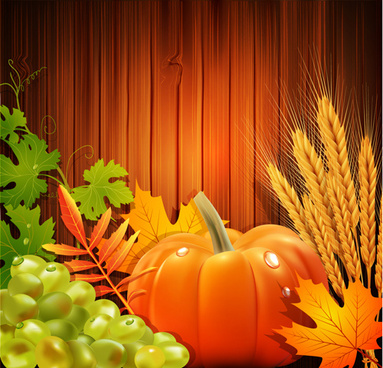 thanksgiving day harvest background vector