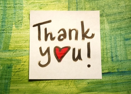 thankyou stickers highdefinition picture