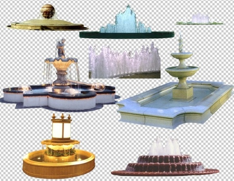 the 8 models fountain psd image