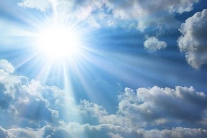 the air the sun stock photo
