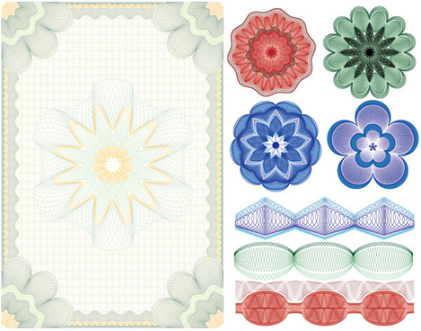 the anti counterfeiting shading pretty design vector