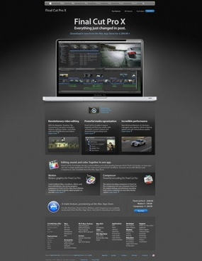 the apple website finalcut web templates