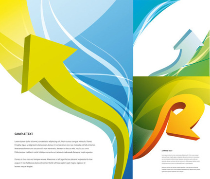 the arrow and abstract colored background vector