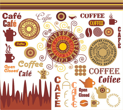 the art of coffee vector graphic