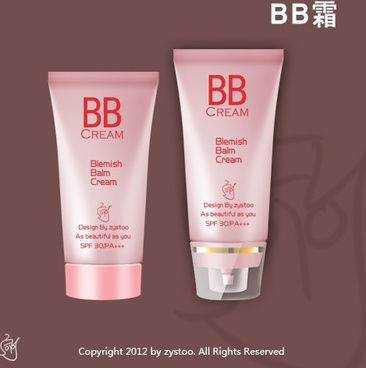 the bb creams icon psd layered