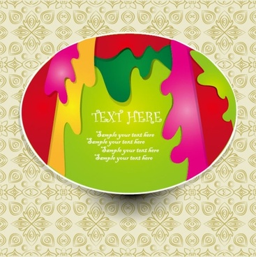 the beautiful sticker label 01 vector