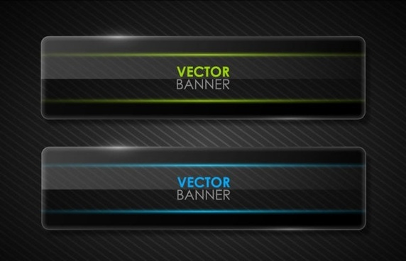 the black cool banner05vector