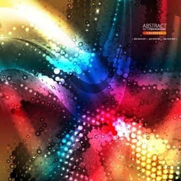 the brilliant dynamic flow color 02 vector