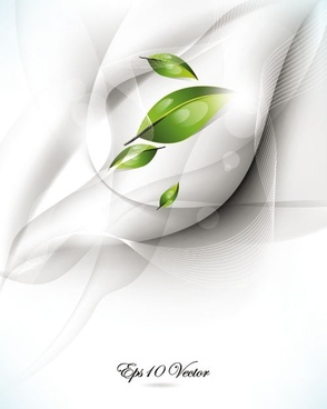 the brilliant dynamic green leafy background 02 vector