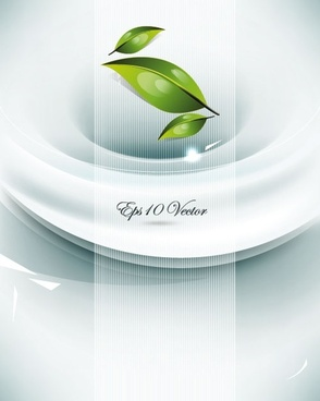 the brilliant dynamic green leafy background 03 vector