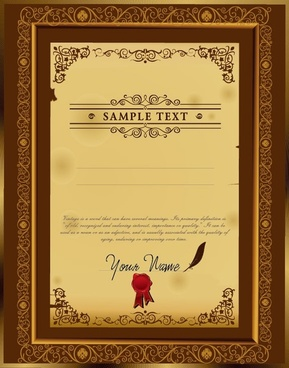 the certificate template design 02 vector