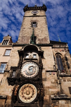 the clock tower in prague