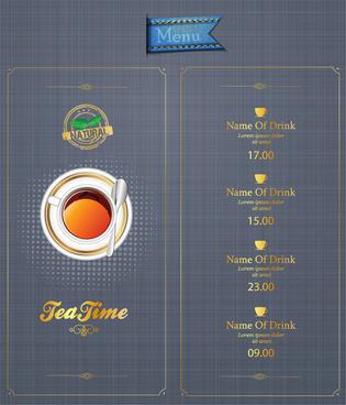 the coffee shop menu mug lable