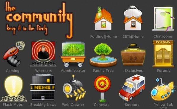 The Community Icons icons pack