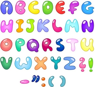 the creative letters designed 01 vector