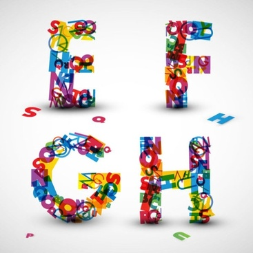 the creative letters designed 08 vector