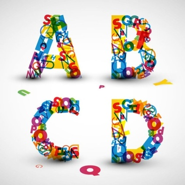the creative letters designed 09 vector