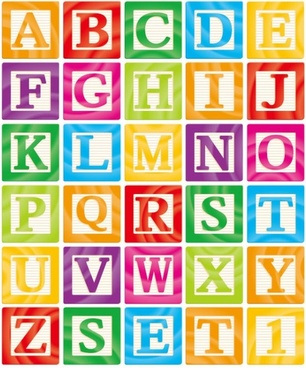 the creative letters designed 11 vector
