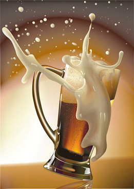 the cup of beer vector art