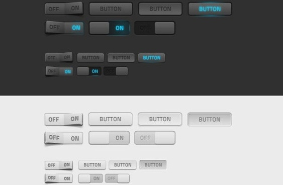 the delicate button switch psd layered