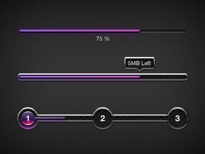 the delicate progress bar 02 psd layered