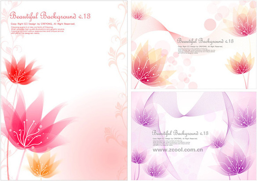 the dream small flower background vector