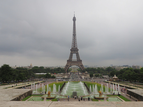 the eiffel tower from jardins du trocadro