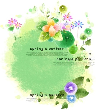 the elegant spring flowers psd pattern