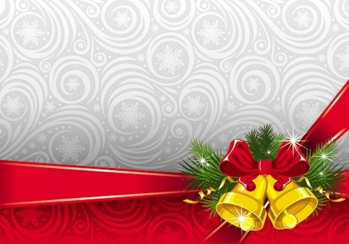 the exquisite christmas bells background 06 vector