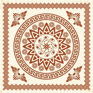 the exquisite european pattern 01 vector