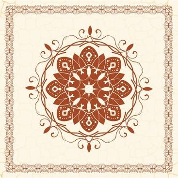 the exquisite european pattern 05 vector