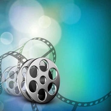 The exquisite fantasy film background vector