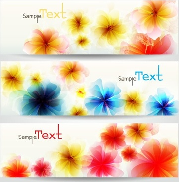 the exquisite flowers banner02vector