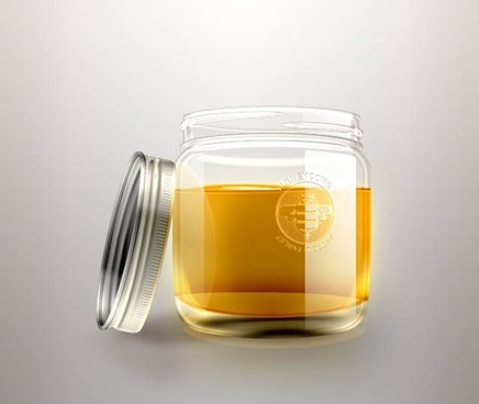 the exquisite honey bottle psd layered