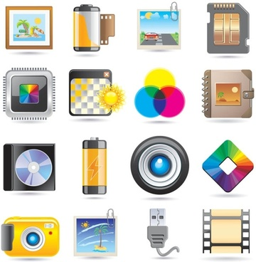 the exquisite icons vector
