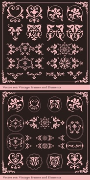 the exquisite lace angular decorative vector