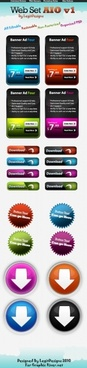 the exquisite web interface button psd layered