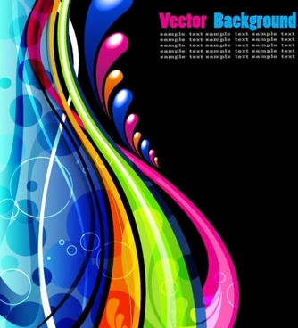 the fashion dynamic flow lines background vector