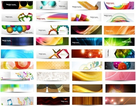 the fashion patterns banner03vector