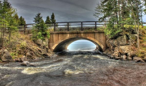 the final bridge at cascade river state park minnesota