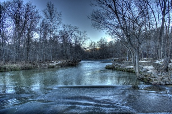 the flowing current river at montauk state park missouri