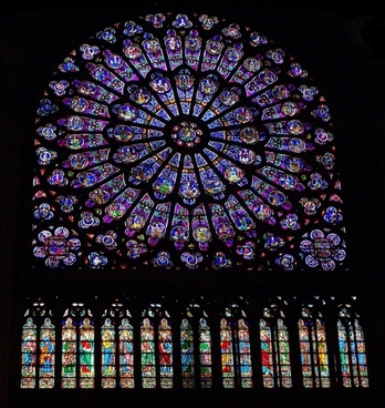 the full stained glass window