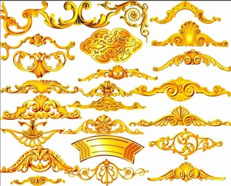 the gold ornamentation psd layered
