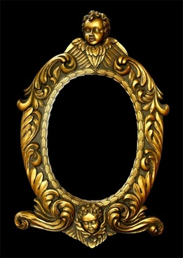 the golden european ornate picture frames hierarchical