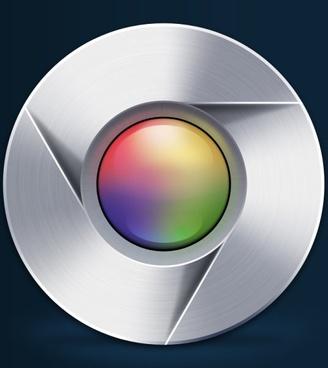 the google chrome psd layered