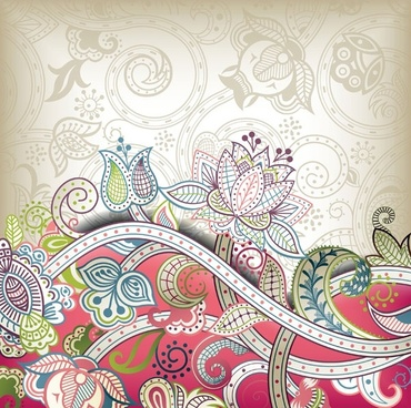 the gorgeous classical pattern vector 4