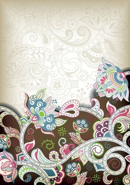 the gorgeous classical pattern vector 5