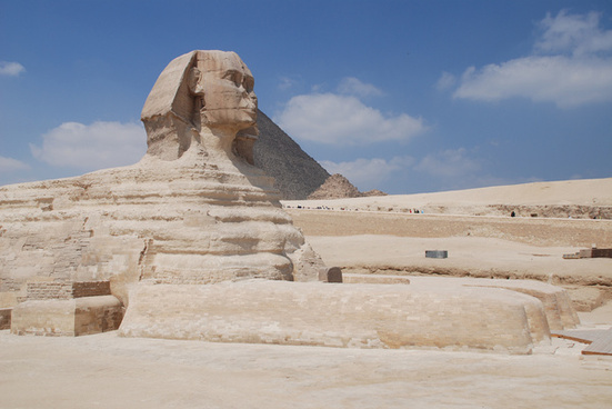 the great sphinx of giza march 2009