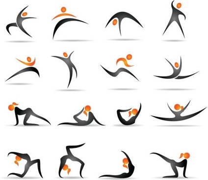 the gymnastics action demonstrates figure 01 vector